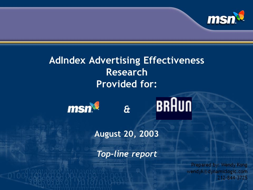 AdIndex Advertising Effectiveness Research