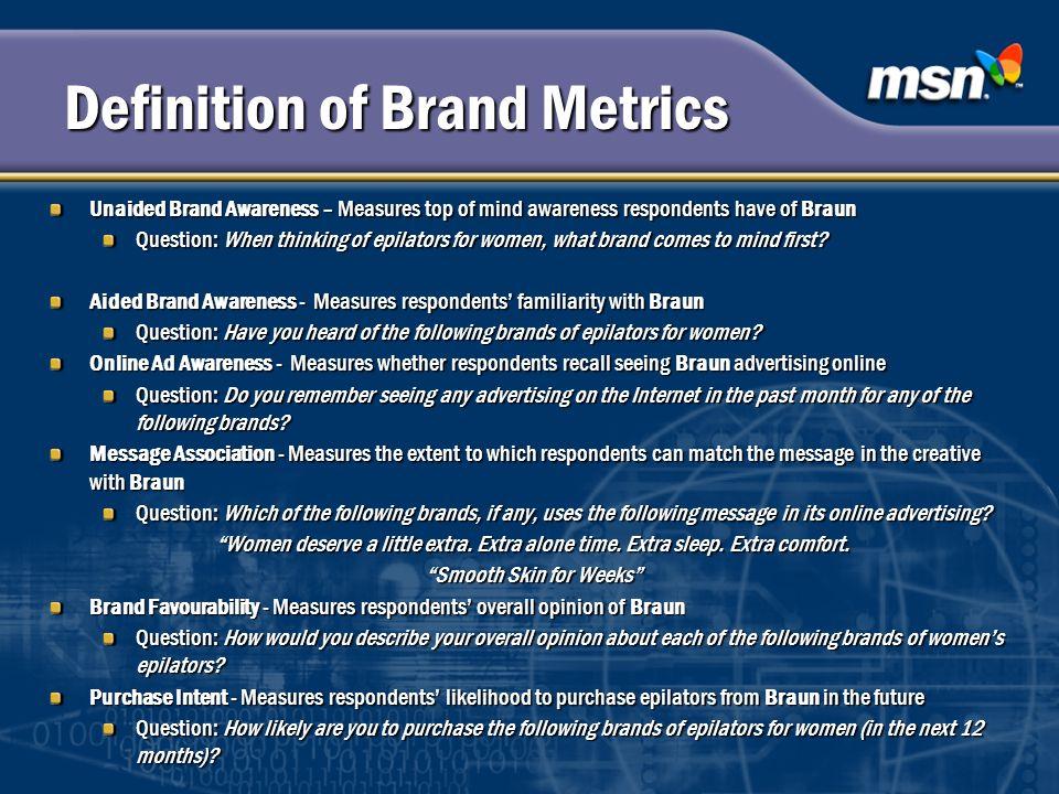 Definition of Brand Metrics