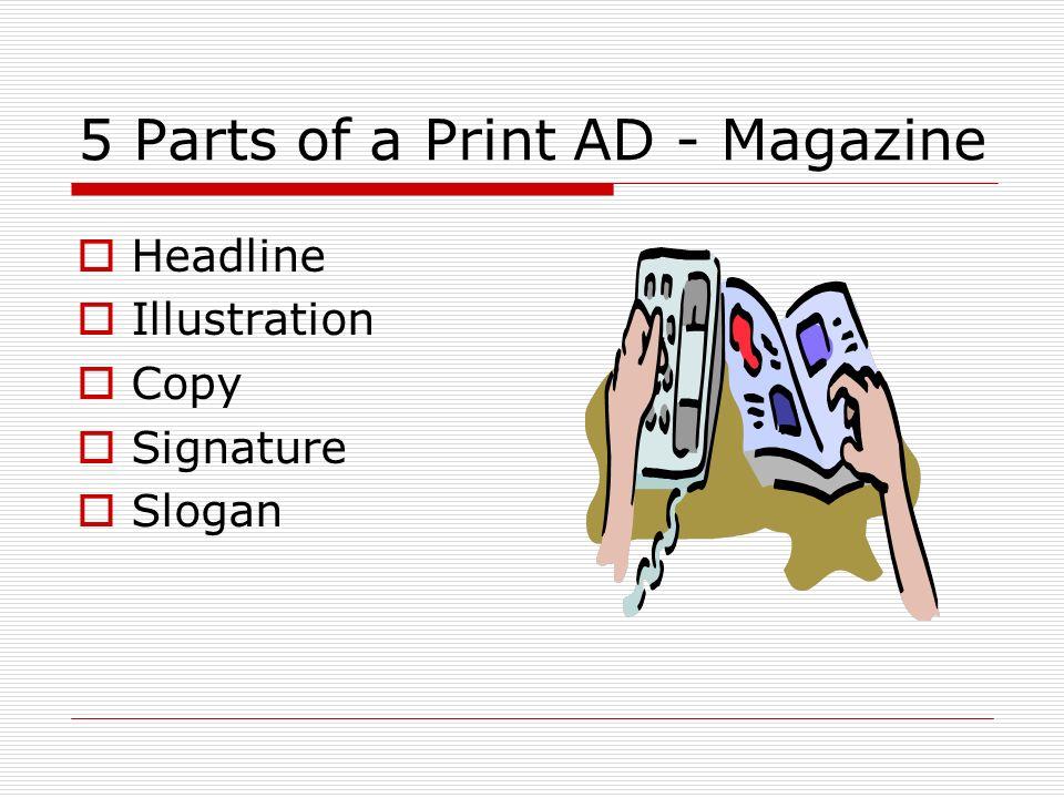 5 Parts of a Print AD - Magazine