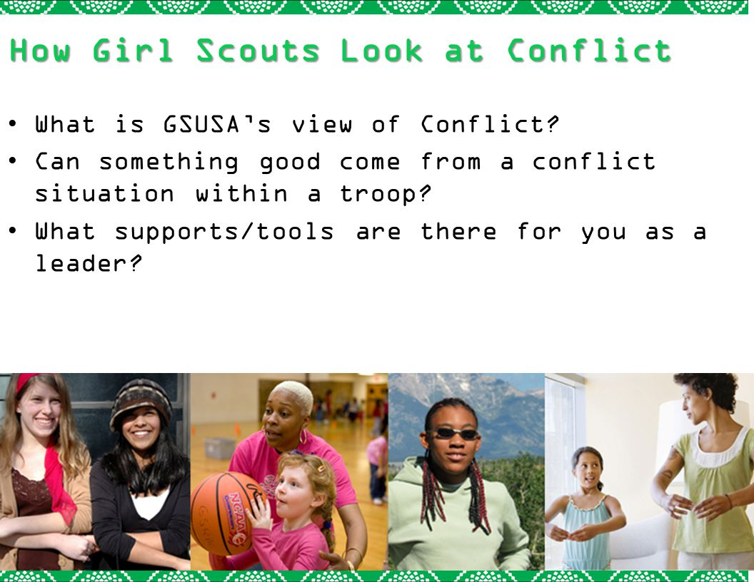 How Girl Scouts Look at Conflict