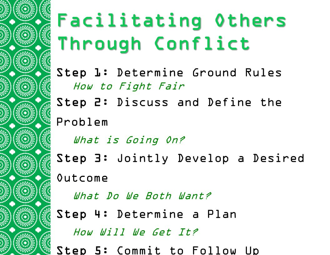 Facilitating Others Through Conflict