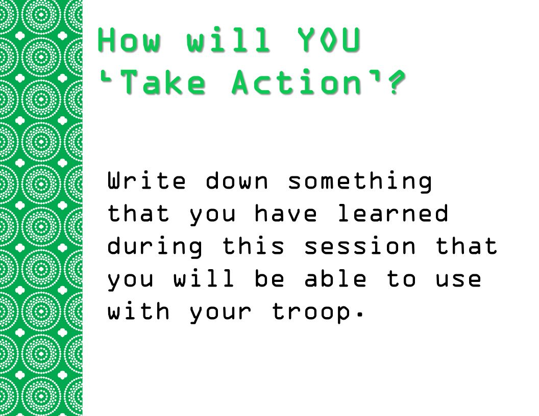 How will YOU 'Take Action'