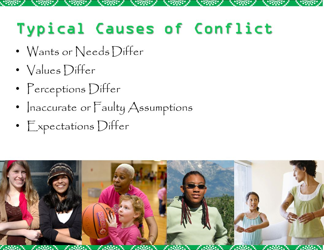 Typical Causes of Conflict