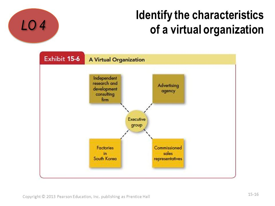 Identify the characteristics of a virtual organization