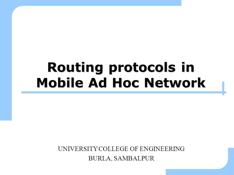 Routing protocols in Mobile Ad Hoc Network
