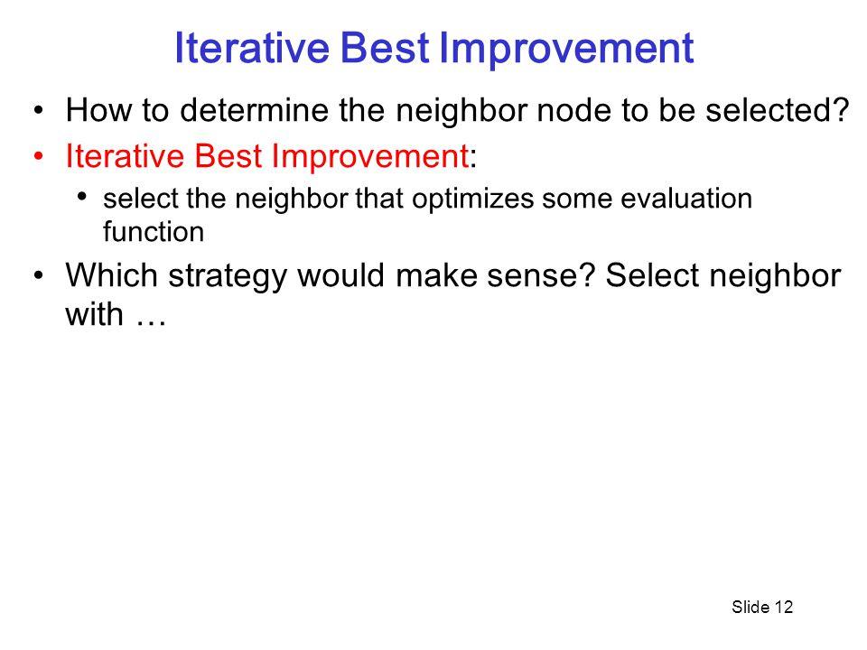 Iterative Best Improvement