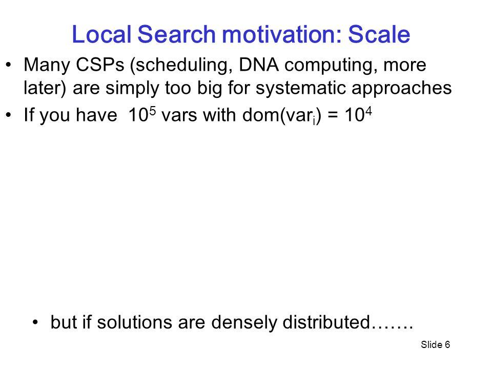 Local Search motivation: Scale