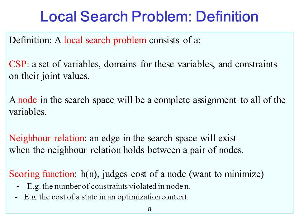 Local Search Problem: Definition