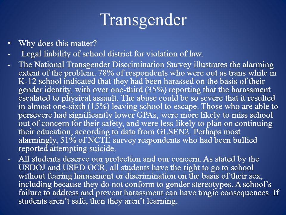 Transgender Why does this matter