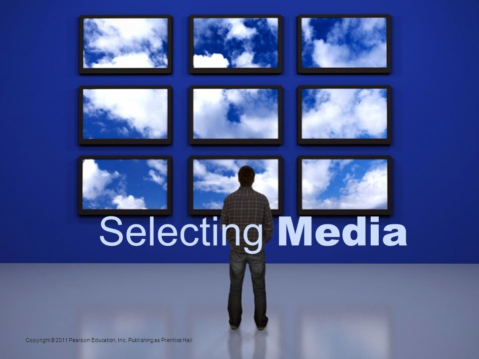 Selecting Media Major steps include: