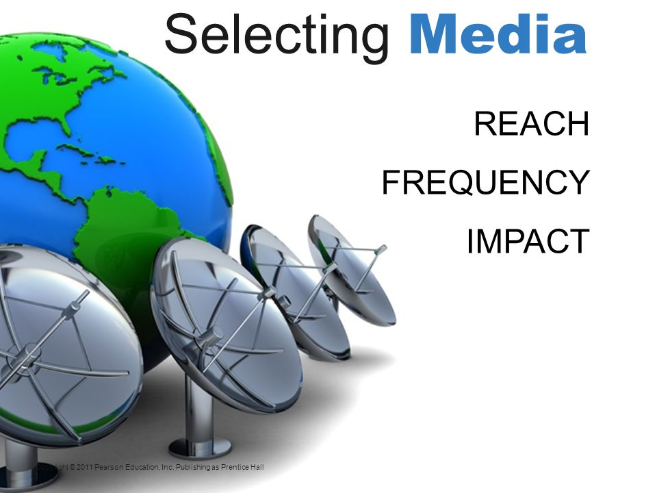 Selecting Media REACH FREQUENCY IMPACT
