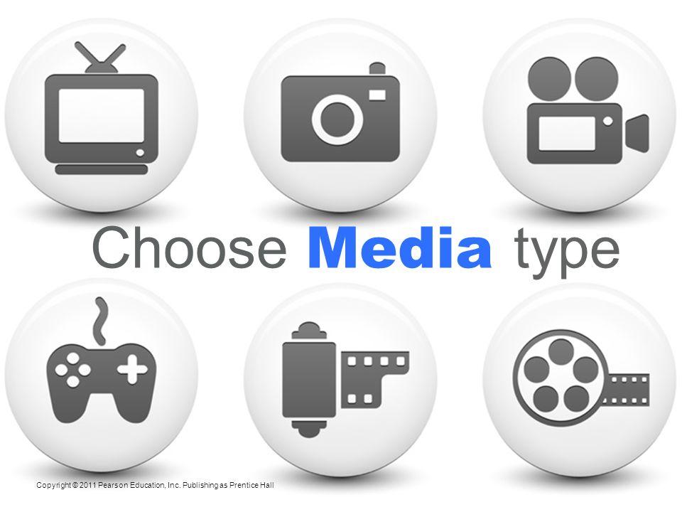 Choose Media type Choosing Among Major Media Types
