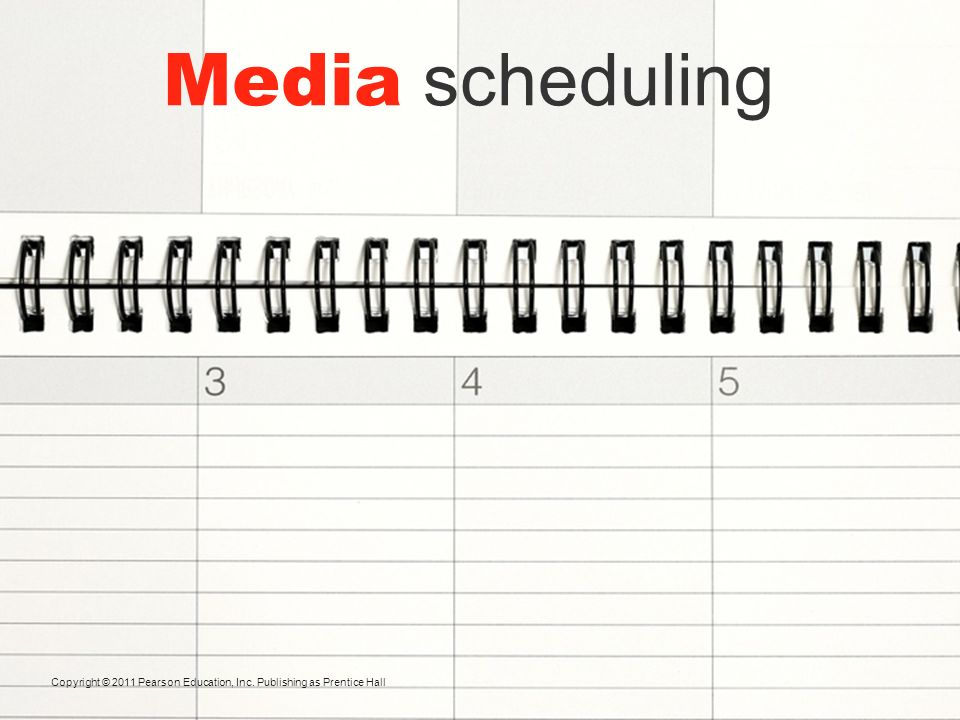 Media scheduling Deciding on Media Timing