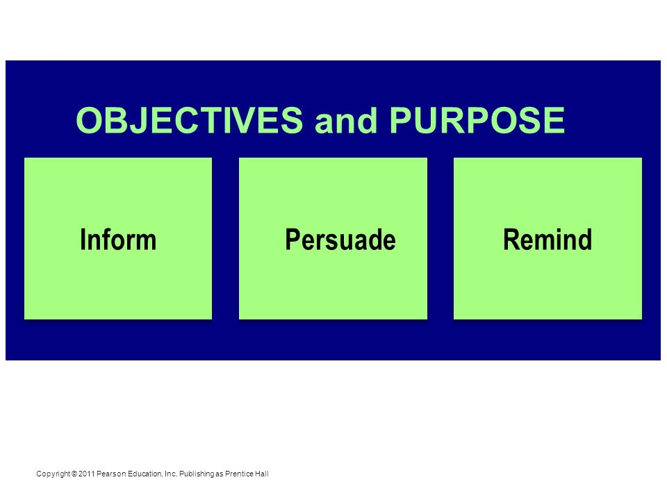 OBJECTIVES and PURPOSE
