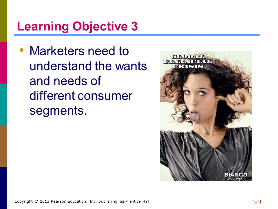 Learning Objective 3 Marketers need to understand the wants and needs of different consumer segments.