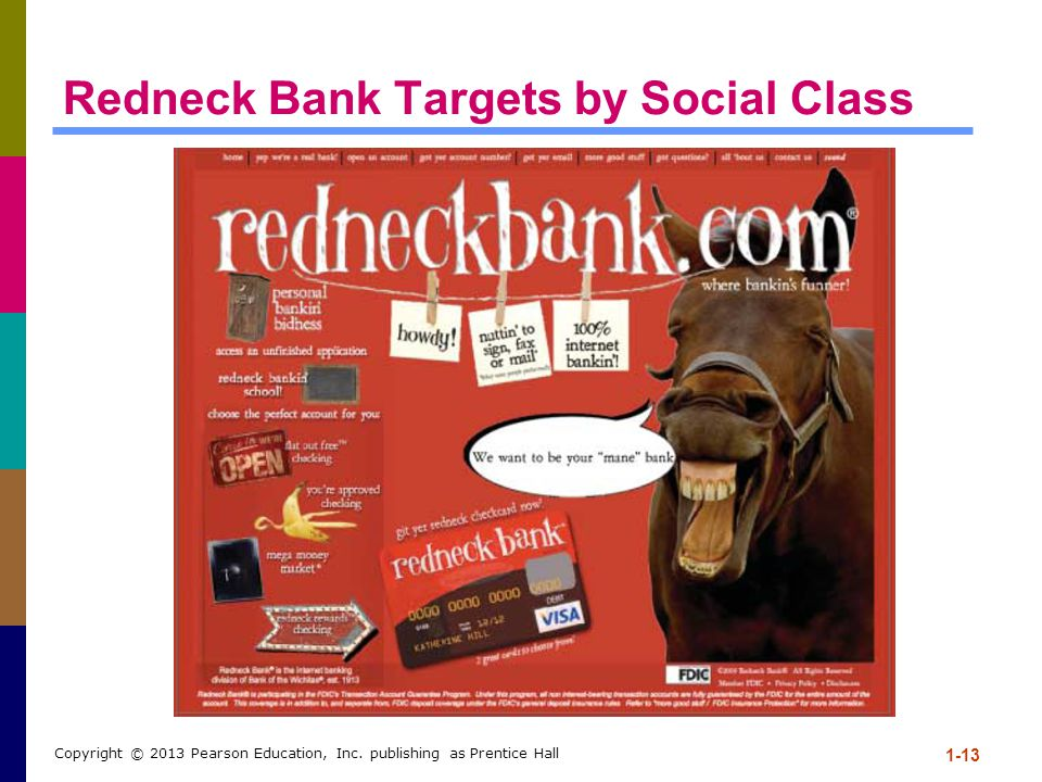 Redneck Bank Targets by Social Class