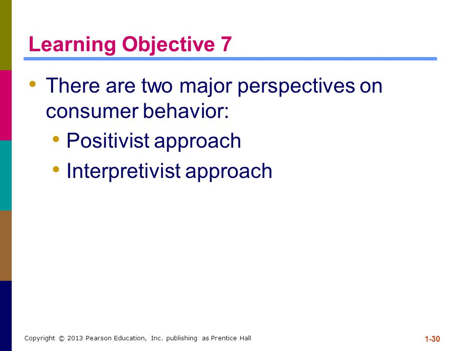 There are two major perspectives on consumer behavior: