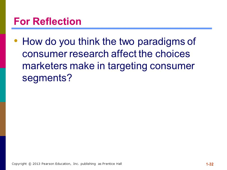 For Reflection How do you think the two paradigms of consumer research affect the choices marketers make in targeting consumer segments