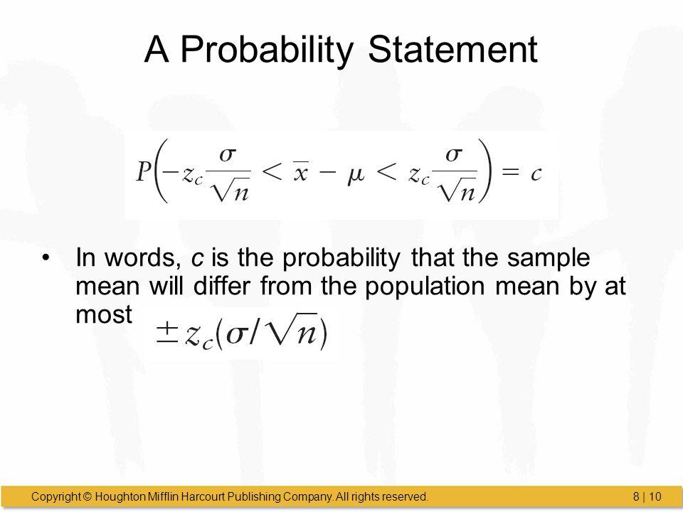 A Probability Statement