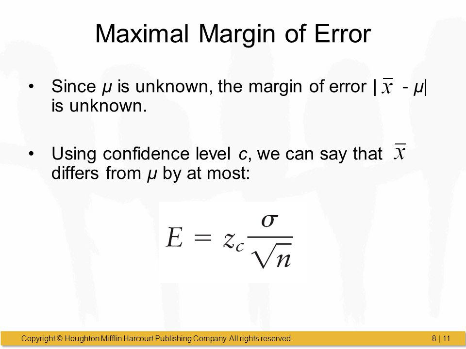 Maximal Margin of Error