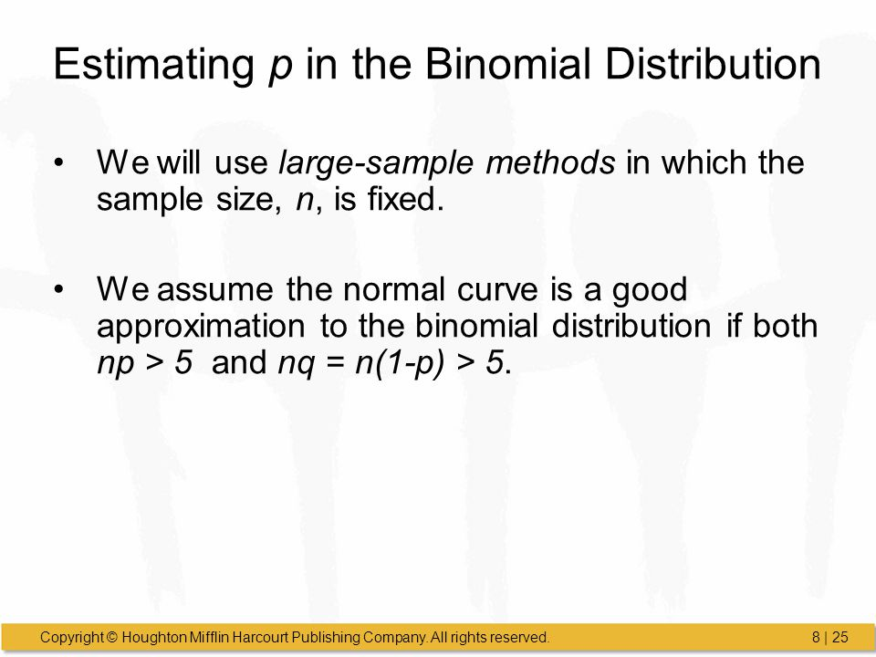 Estimating p in the Binomial Distribution