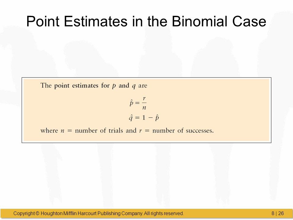 Point Estimates in the Binomial Case