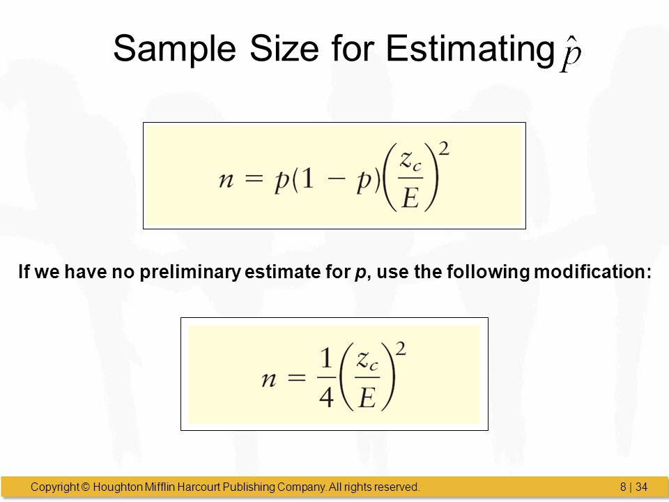 Sample Size for Estimating