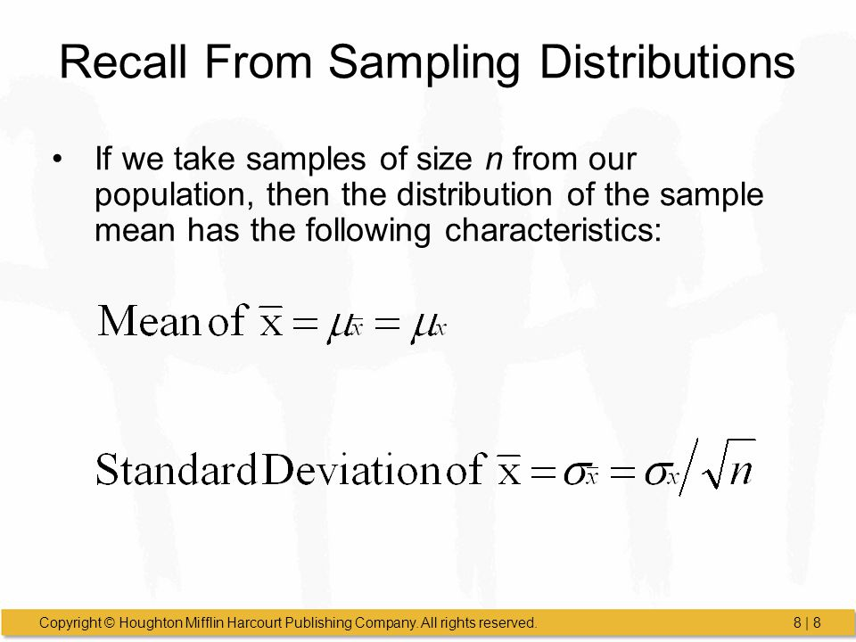Recall From Sampling Distributions