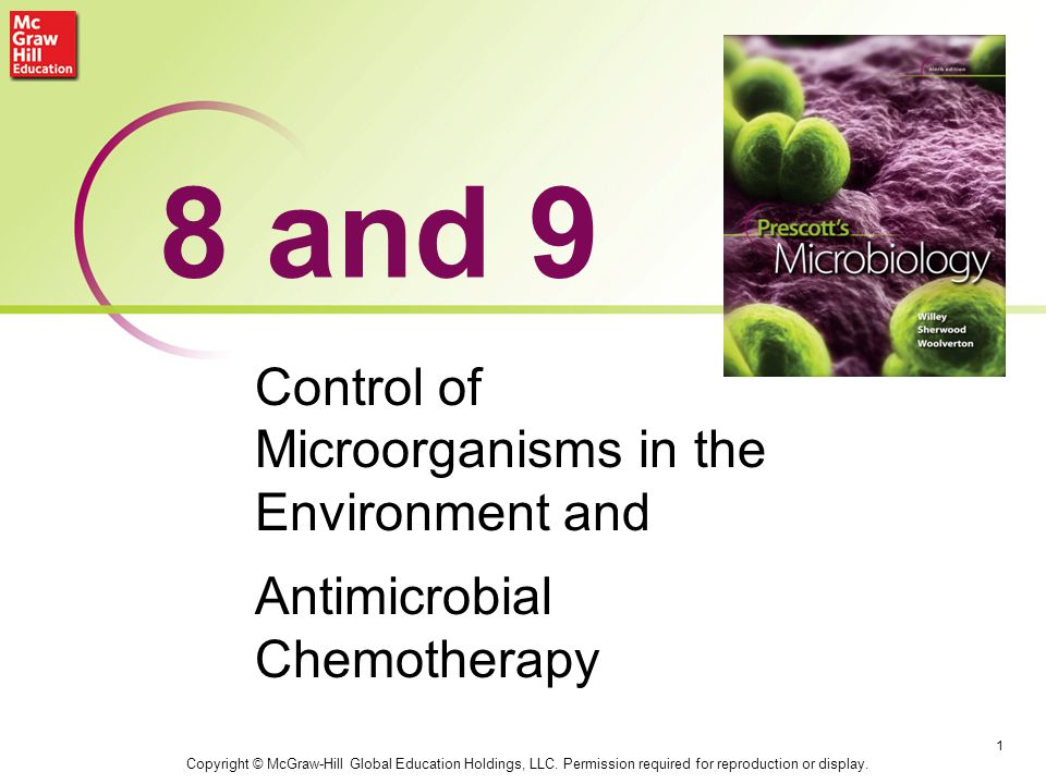 8 and 9 Control of Microorganisms in the Environment and