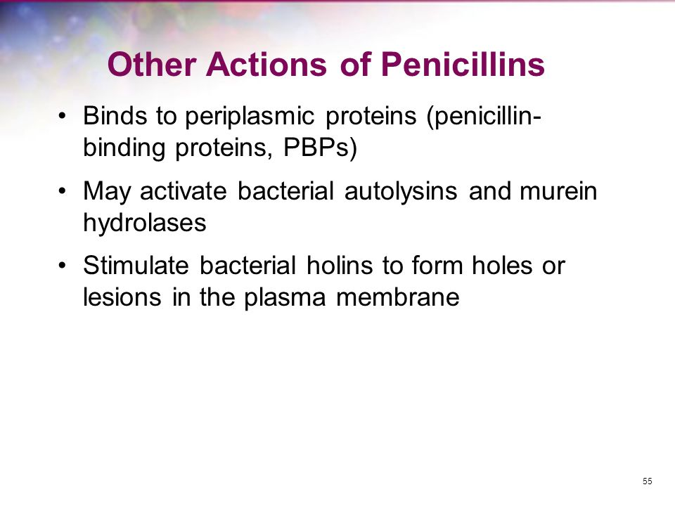 Other Actions of Penicillins