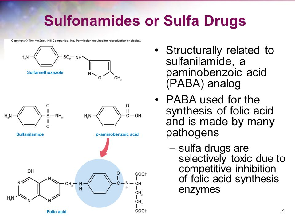 Sulfonamides or Sulfa Drugs