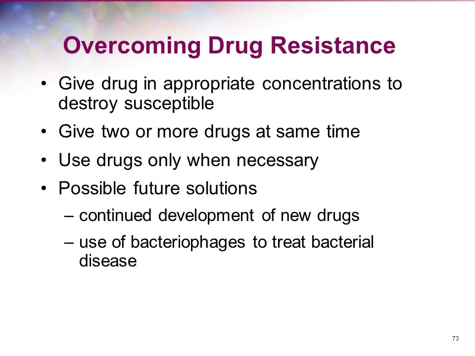 Overcoming Drug Resistance
