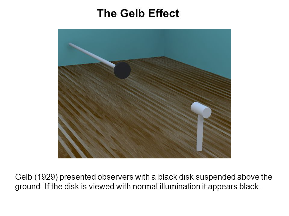 The Gelb Effect