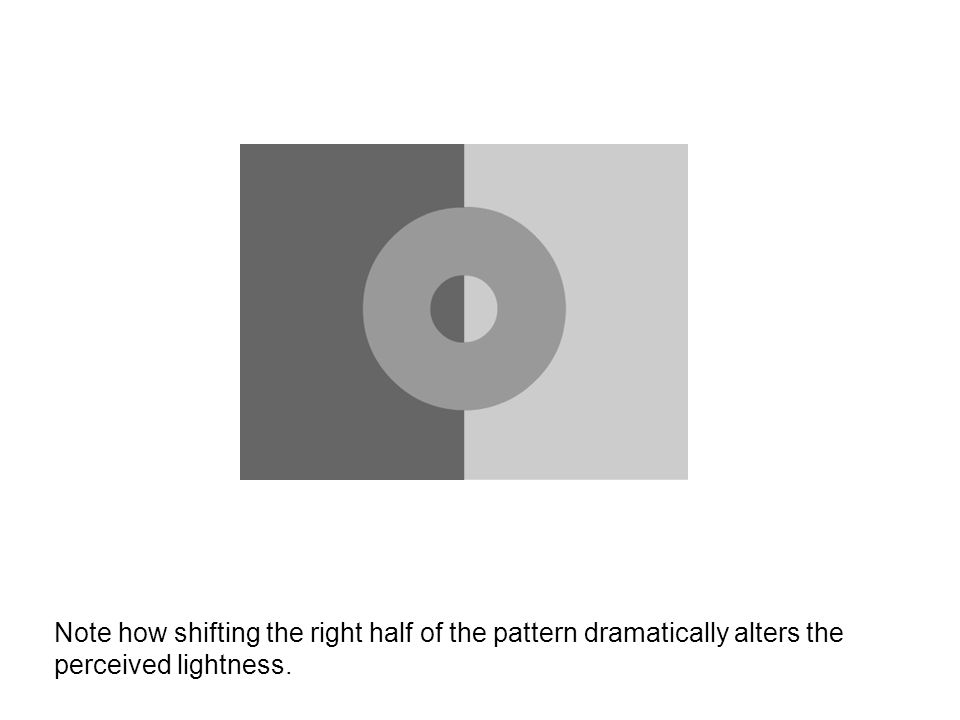 Note how shifting the right half of the pattern dramatically alters the perceived lightness.