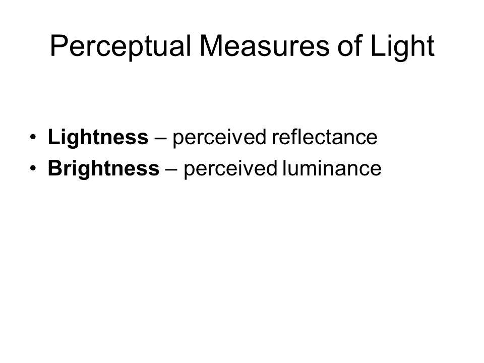 Perceptual Measures of Light