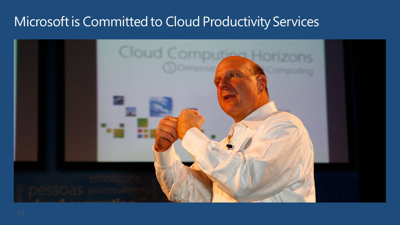 Microsoft is Committed to Cloud Productivity Services