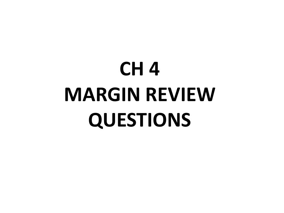 margin review questions essay On this page you can learn about apa style formatting find information on apa research paper margins, spacing and typing guide.
