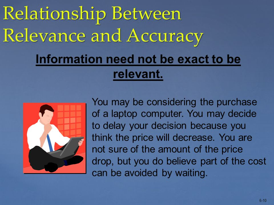 Relationship Between Relevance and Accuracy