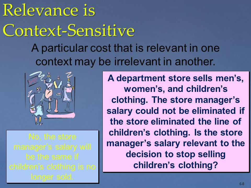 Relevance is Context-Sensitive