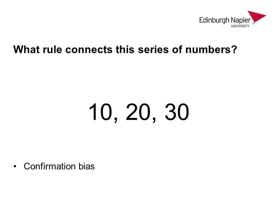 What rule connects this series of numbers