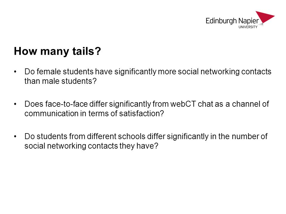 How many tails Do female students have significantly more social networking contacts than male students