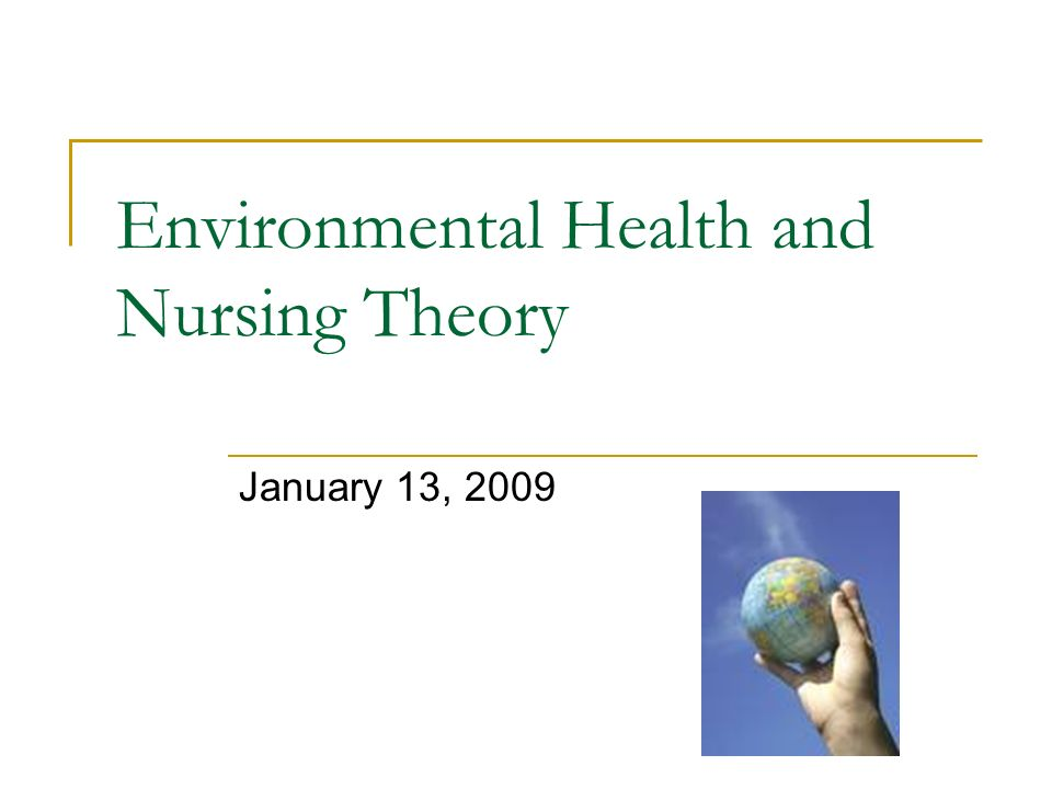 Environmental Health and Nursing Theory