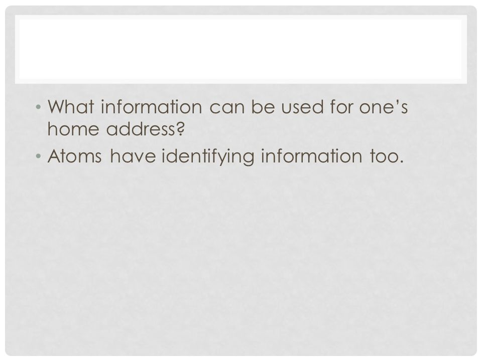 What information can be used for one's home address