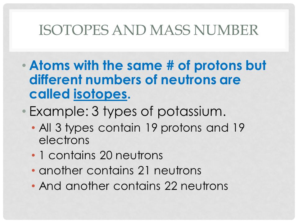how to find the mass number of an isotope