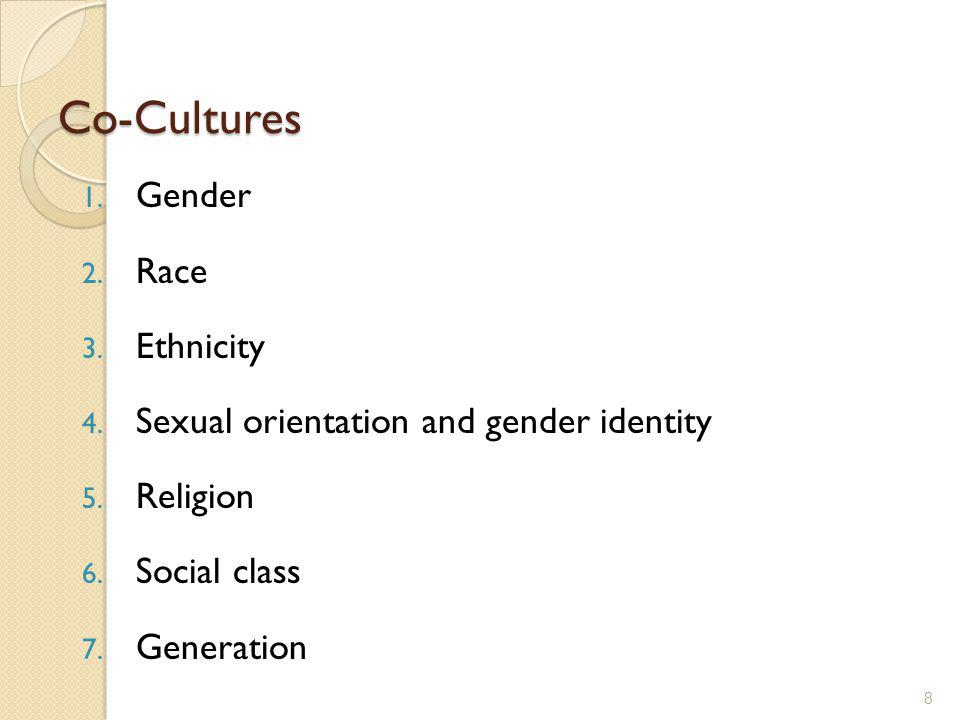 Co-Cultures Gender Race Ethnicity