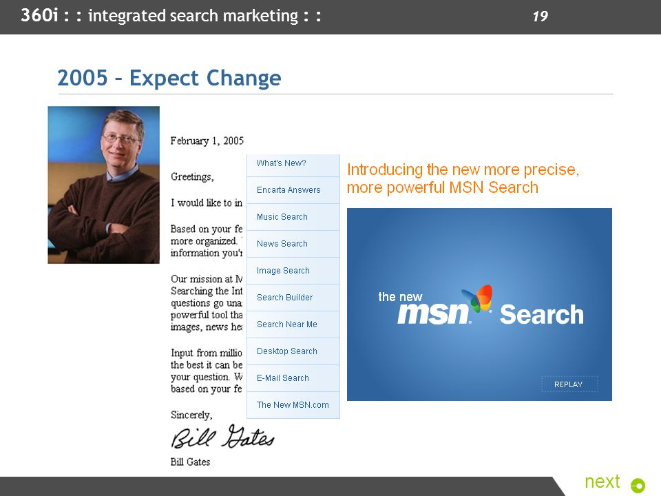 2005 – Expect Change