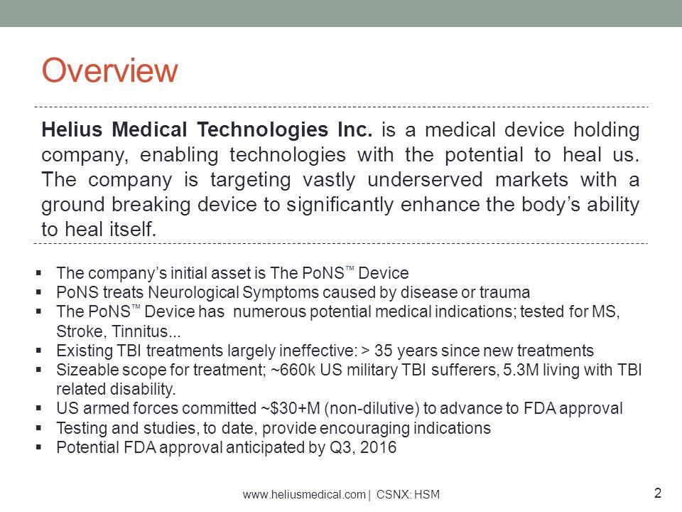 www.heliusmedical.com | CSNX: HSM