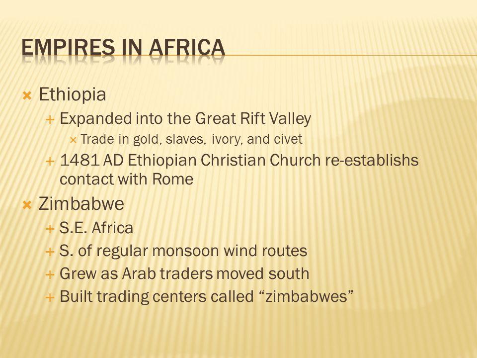 Empires in Africa Ethiopia Zimbabwe