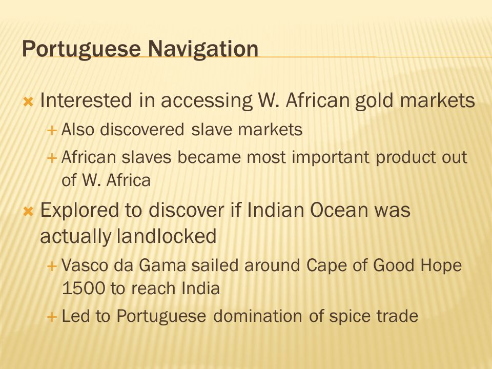 Portuguese Navigation