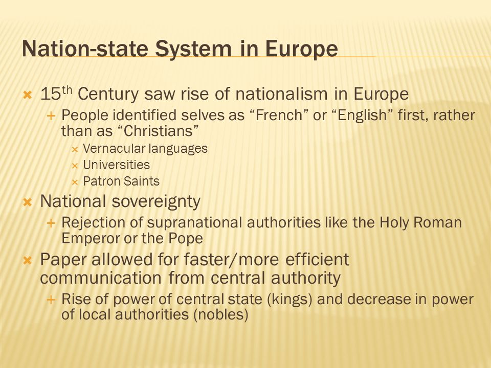 Nation-state System in Europe